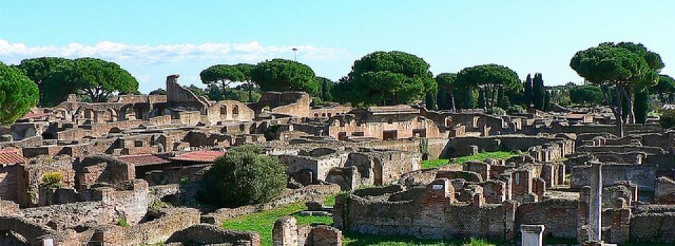 Wonderful archaeological site in Ostia Antica.